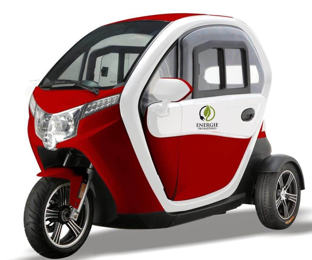 MOPED CAR Electric ZT95 RED  3 roti