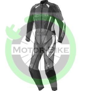 costum moto piele probiker prx 9 leather suit blk white. Black Bedroom Furniture Sets. Home Design Ideas