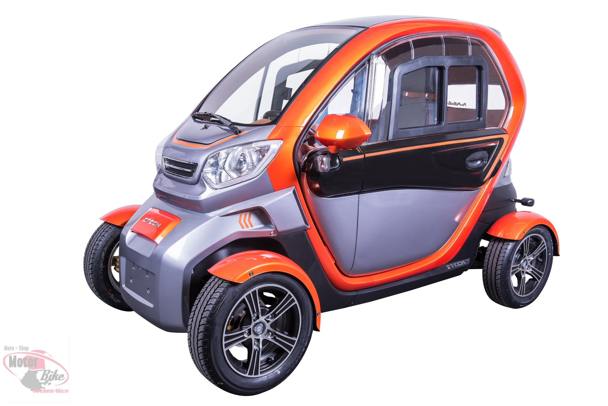 MOPED CAR Electrica ZT96 ORANGE 4 roti