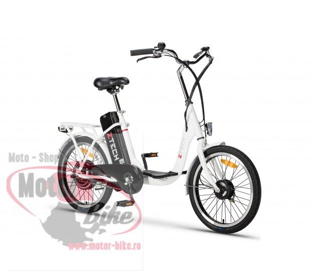 Bicicleta Electrica ZT-07B CAMP3.0 ALB LITIU-ION (2018)