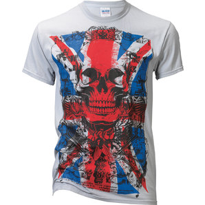 Tricou T-SHIRT ENGLISH FLAG VINTAGE GREY