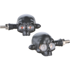 Semnalizari moto SKULL LED TURN SIGNAL BLACK