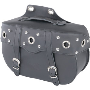 Genti Chopper HELD LAYTON SADDLEBAGS BLACK FOR CLICK SYSTEM 10L