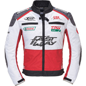 Geaca moto FASTWAY F204 TEXTILE JACKET RED