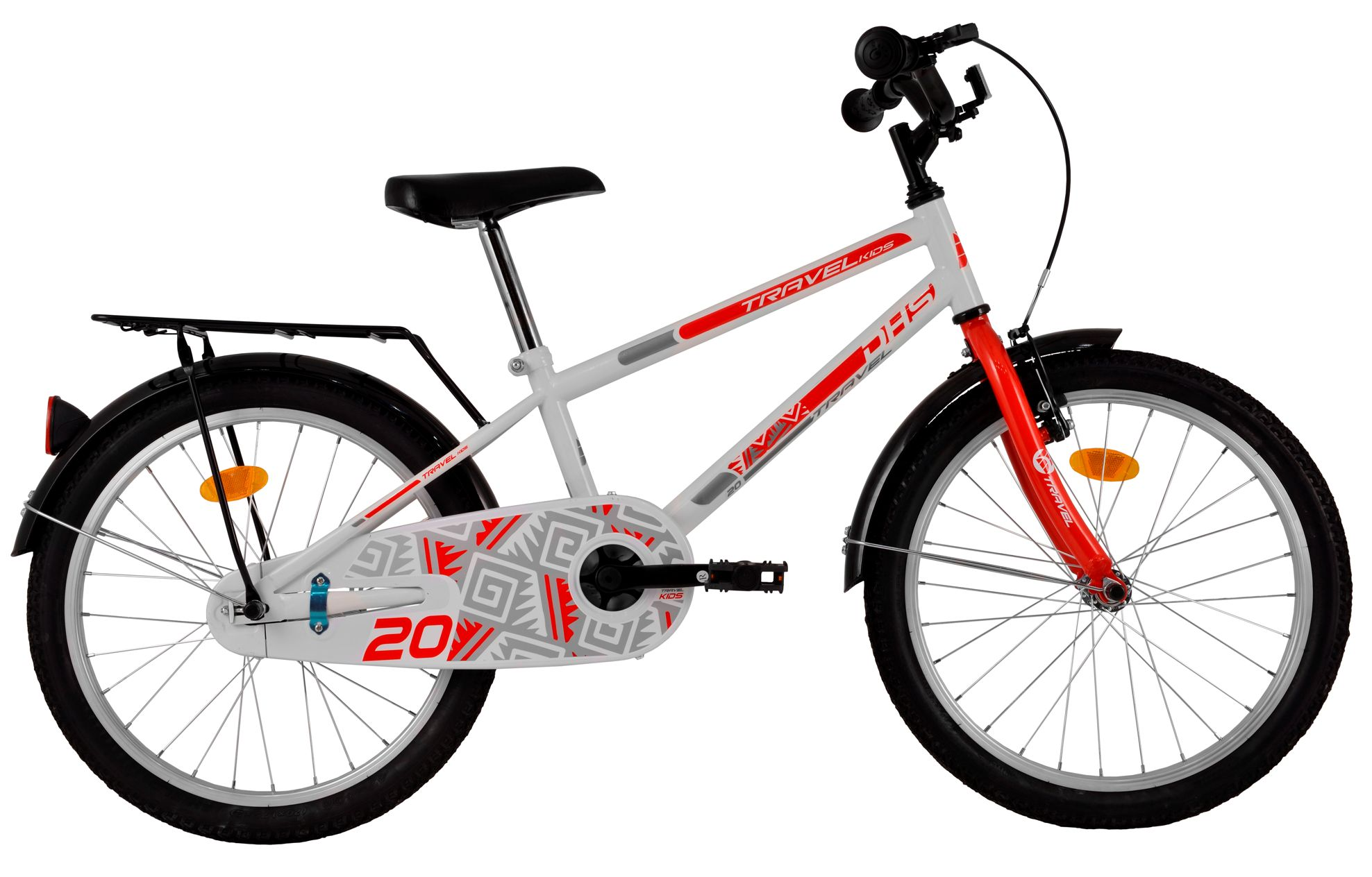 Bicicleta copii DHS-2001 TRAVEL ALB