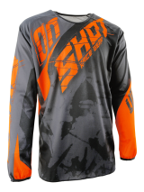 Tricou cross SHOT MX/DEVO SQUAD GREY-NEON ORANGE