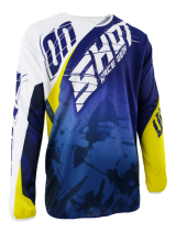 Tricou cross SHOT MX/DEVO SQUAD BLUE-YELLOW