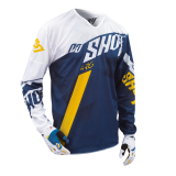 Tricou cross SHOT FLEXOR SYSTEM BLUE YELLOW HUSQVARNA FACTORY