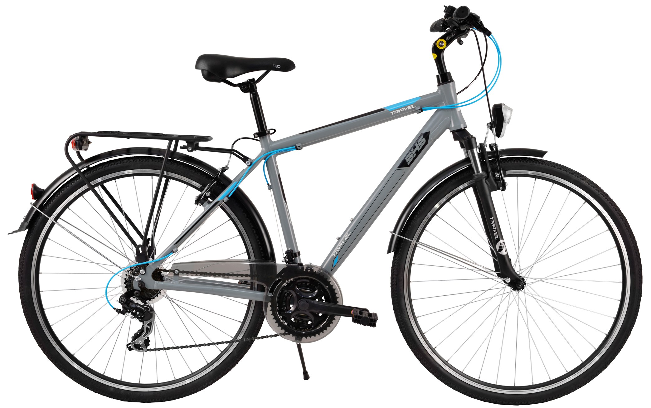 Bicicleta DHS TRAVEL 2855 gri