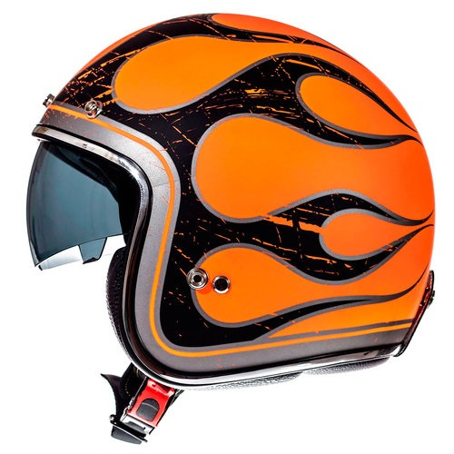 Casca MT LE MANS SV FLAMING NEGRU ORANGE MAT