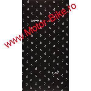 Batic moto HAD MULTIPURPOSE SCARF PAISLEY ART BLACK