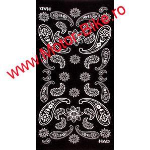 Batic moto HAD MULTIPURPOSE SCARF INDIA PAISLEY BLACK