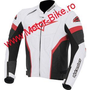 Geaca moto piele ALPINESTARS RED GP PLUS R LEATHER JACKET