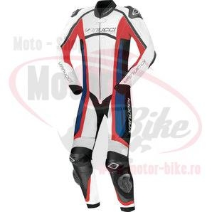 Costum Moto piele VANUCCI .ART XVI 1-PIECE SUIT RED BLUE