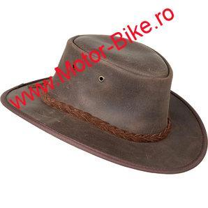 Palarie piele BROWN LEATHER HAT FOLDAWAY OILED COWHIDE